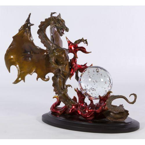 "Bronze ""Dragon of Destiny"" Sculpture by Franklin Mint"