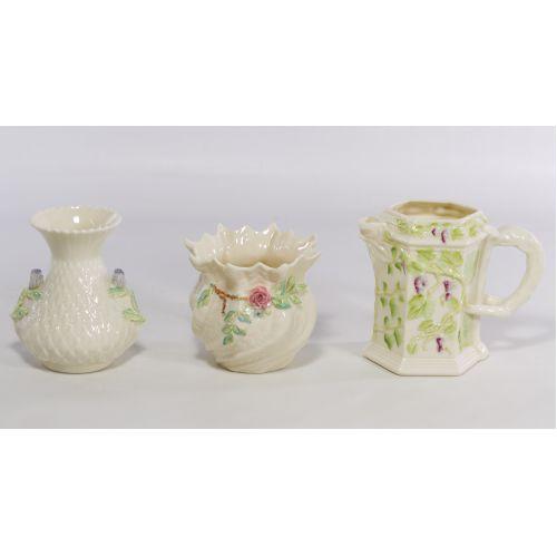 Belleek Vase and Pitcher Assortment