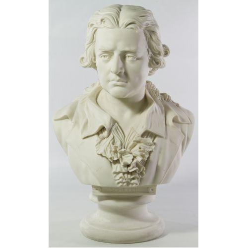 """Unknown Artist (20th Century) """"Fredrick Schiller"""" Plaster Bust"""