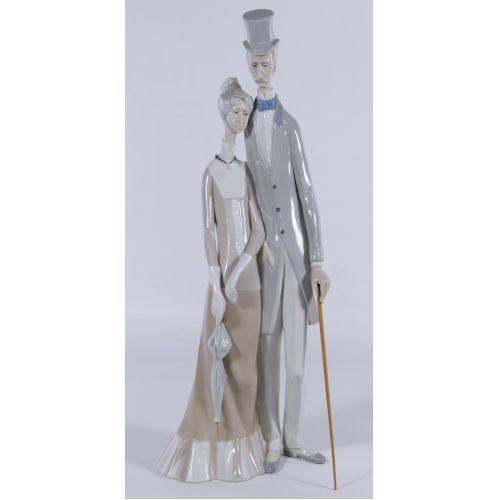 """Lladro #1033 """"Old Folks"""" Figurine"""