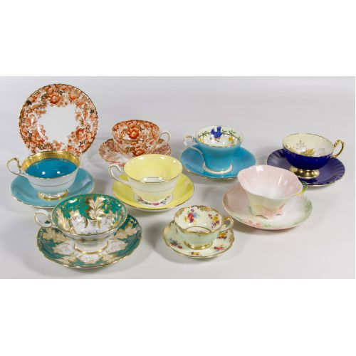 Porcelain Cup and Saucer Assortment