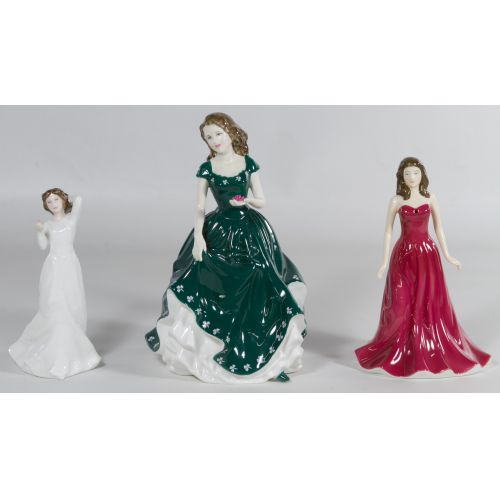 "Royal Doulton HN4580 ""Irish Charm"", HN4970 ""January - Garnet"" and HN3393 ""Sentiments with Love"" Figurines"