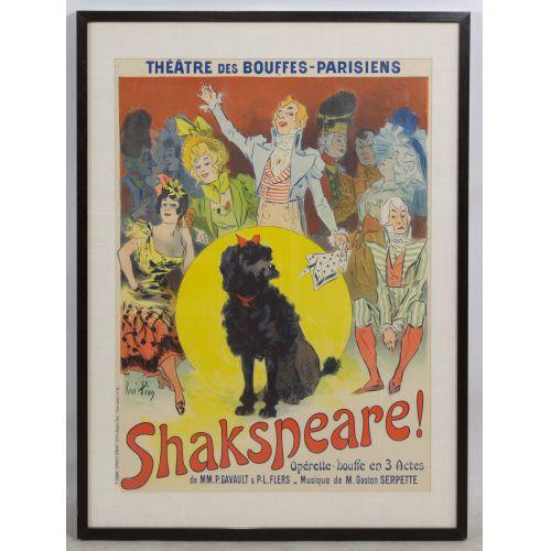 "Rene Pean (French, 1875-1945) ""Shakespeare!"" Poster"