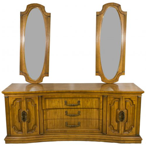 Fruitwood Dresser with Duel Mirrors by Unique Furniture
