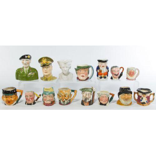 Pottery Toby Mugs