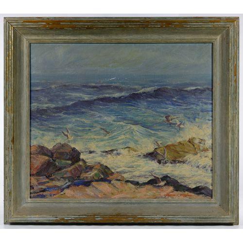 Justin Kilbourne (American, 19-20th Century) Oil on Canvas