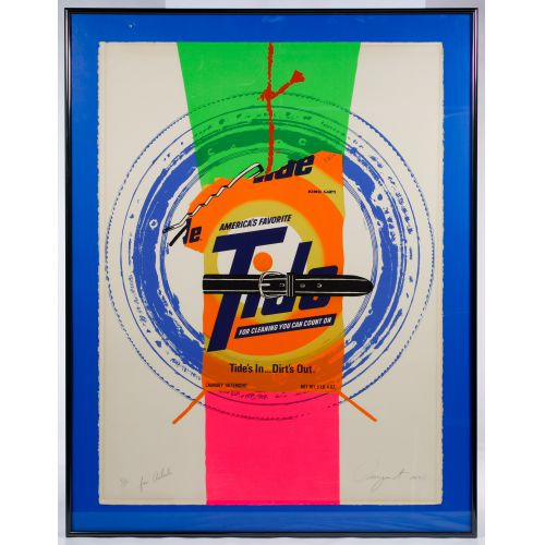"James Rosenquist (American 1933-2017) ""Tide"" Lithograph"
