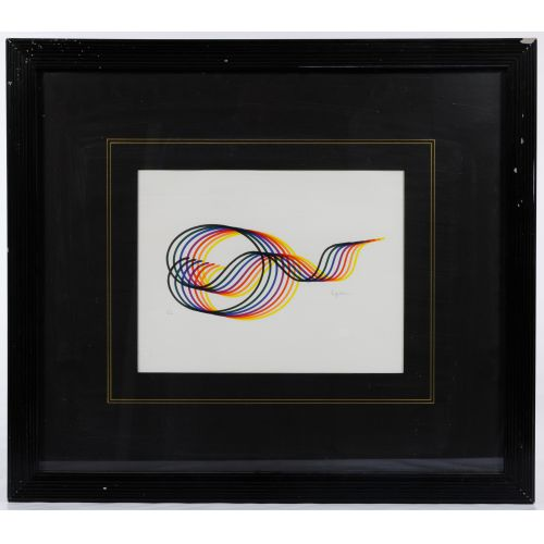 "Yaacov Agam (Israeli / French, b.1928) ""Lines and Forms"" Lithograph"