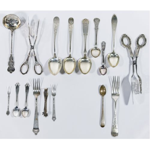 Sterling and European (830) Silver Flatware Assortment