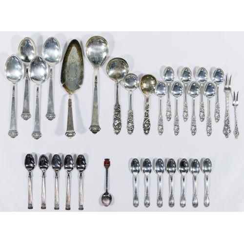European Sterling (830) Silver Flatware Assortment