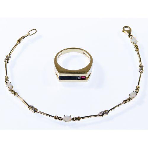 10k Gold Bracelet and Ring