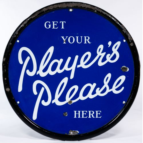 Get Your Player Please Here Porcelain Advertising Sign