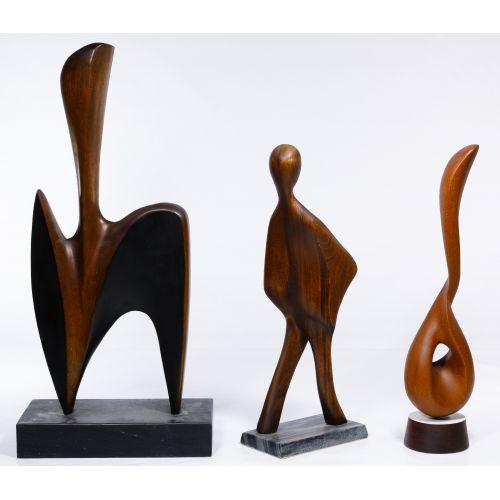 Gert Olsen (American, 20th Century) Hand Carved Wood Sculptures