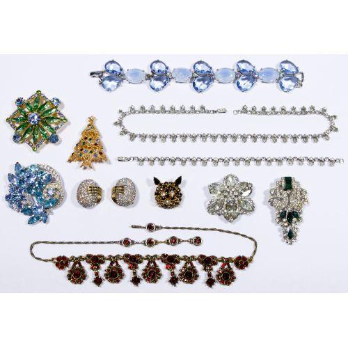 Signed Rhinestone Jewelry Assortment