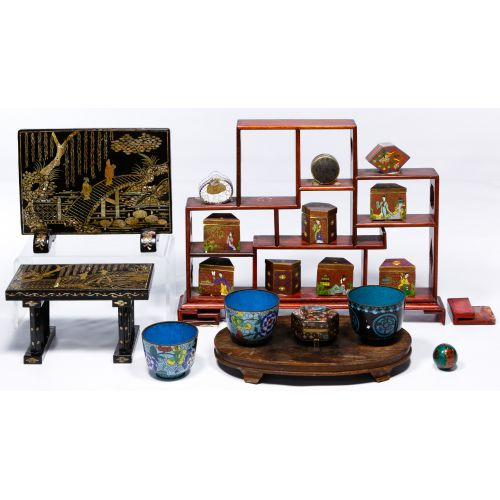 Cloisonne and Stand Assortment