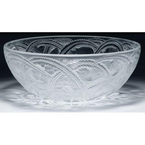 "Lalique Crystal ""Pinson"" Bowl"