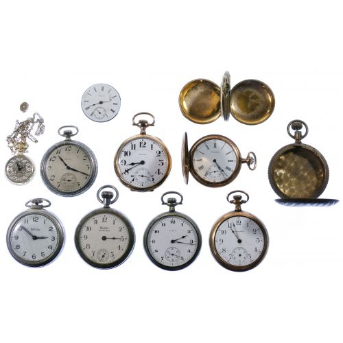 Pocket Watch, Case and Work Assortment