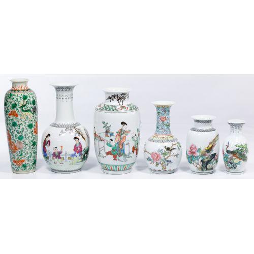 Asian Decorative Vase Assortment