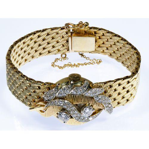 Baume & Mercier 14k Gold and Diamond Wrist Watch