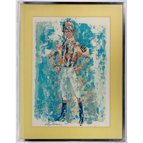 "Leroy Neiman (American, 1921-2012) ""Jockey"" Poster"