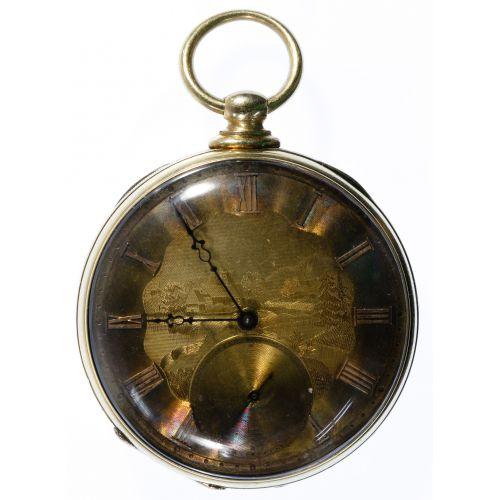 T F Cooper 14k Gold Open Face Pocket Watch