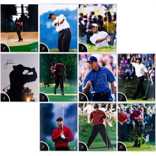 Tiger Woods 10 Best Shots Autographed Collection