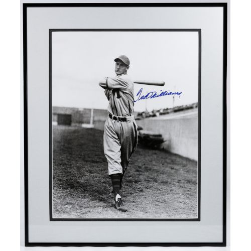 Ted Williams Autographed Framed Photograph