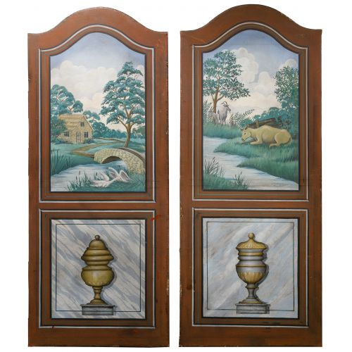 Scenic Painted Room Divider Panels
