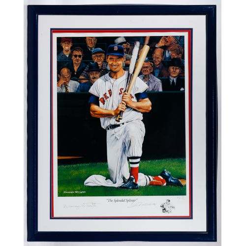 """Ted Williams"" Serigraph by George Wright"