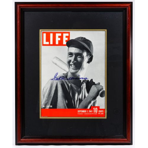 Ted Williams Autographed Life Magazine Cover