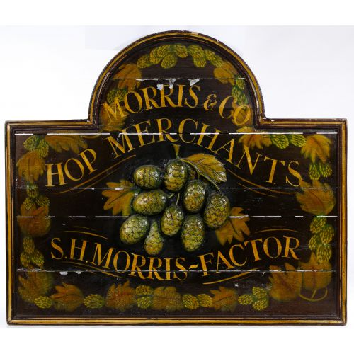 Morris & Co. Hop Merchants Advertising Sign