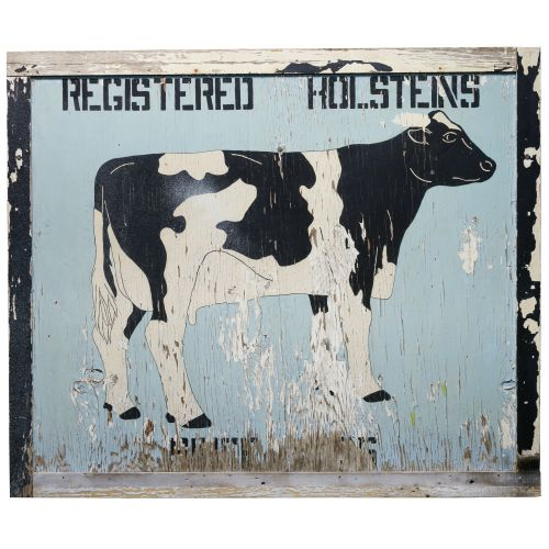 """Hand Painted """"Registered Holsteins"""" Advertising Sign"""