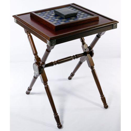 "Franklin Mint ""Civil War"" Chess Set on Table"