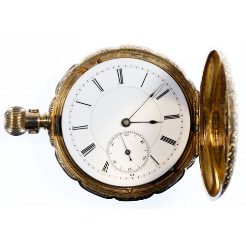 Newport 14k Gold Hunter Case Pocket Watch