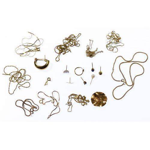 14k Gold Scrap Jewelry Assortment