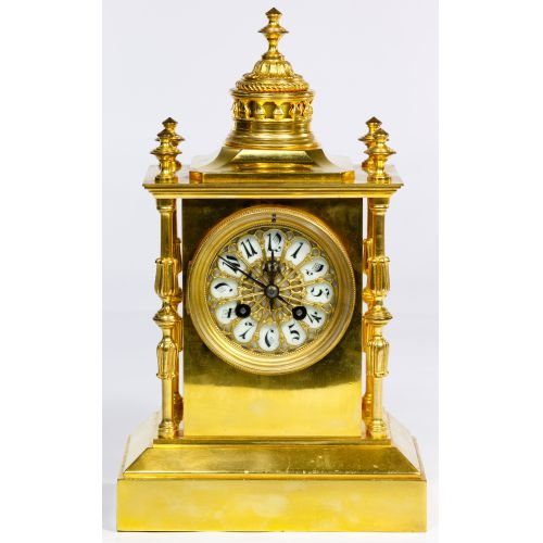 Japy Freres Brass Mantel Clock