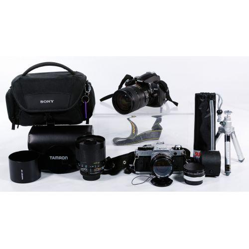 Camera and Tripod Assortment