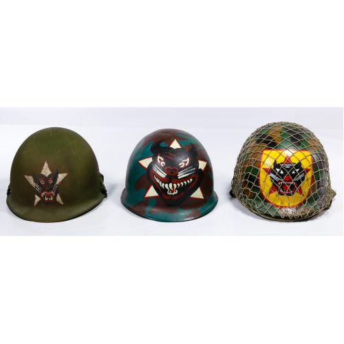 Vietnam War ARVN Ranger Painted Helmet Assortment