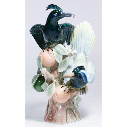 Vista Alegre Hoopoe Birds Figurine