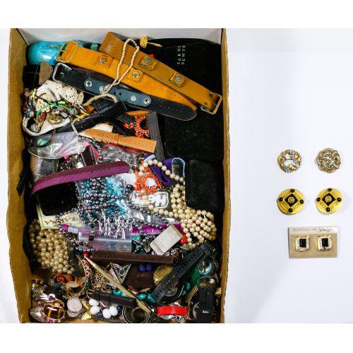 Costume Jewelry and Wrist Watch Assortment