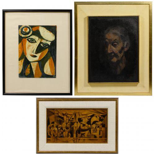 Poletti (American, 20th Century) Painting Assortment