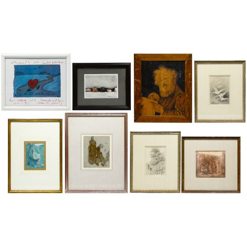Works on Paper and Wood Carving Assortment