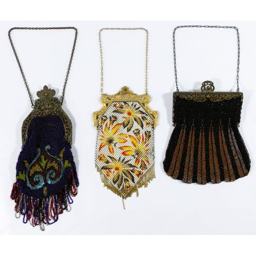 Enamel Mesh and Beaded Purse Assortment