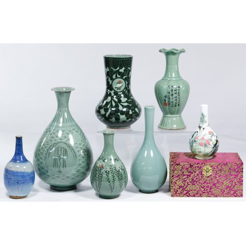 Asian Celedon Vase Assortment