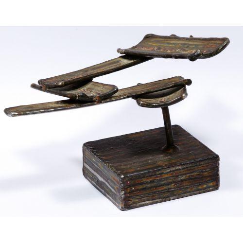 George Kafka (American, 20th Century) Modern Metal Sculpture