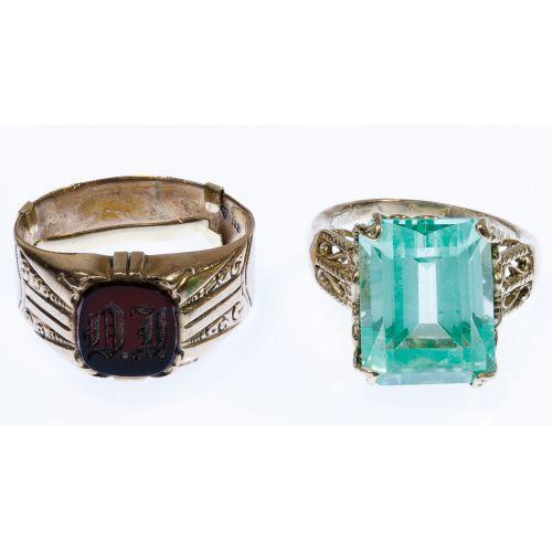 10k Gold and Semi-Precious Gemstone Rings