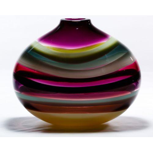 Caleb Siemon Hand Blown Glass Vase