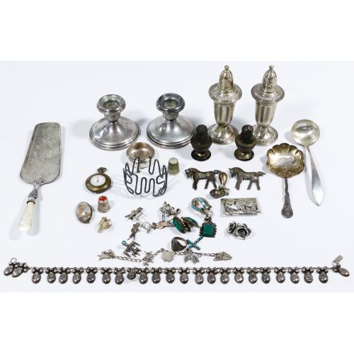 Sterling Silver Jewelry and Hollowware Assortment