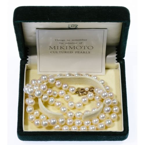 Mikimoto 14k Gold and 7mm Pearl Necklace