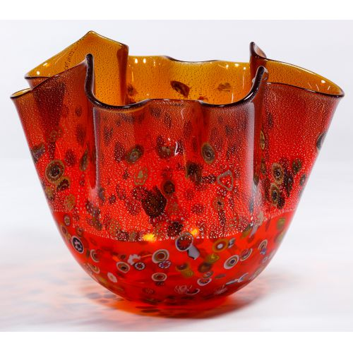 Murano Art Glass Handkerchief Vase